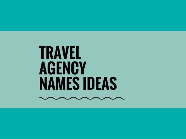200+ Creative & Catchy Travel Agency Names Ideas !!