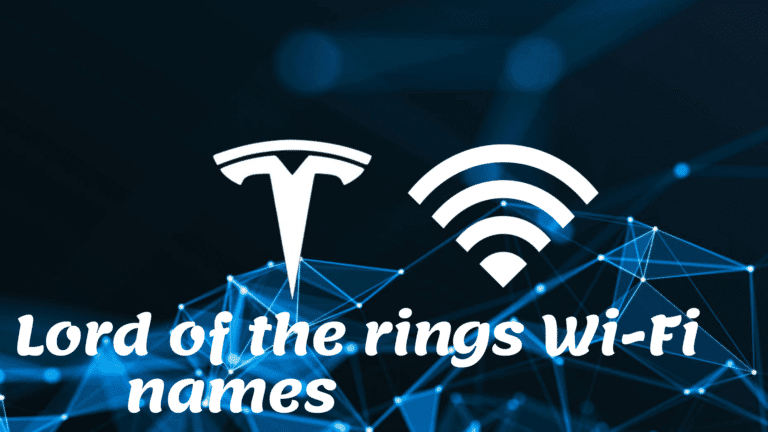 Lord of the rings Wi-Fi names