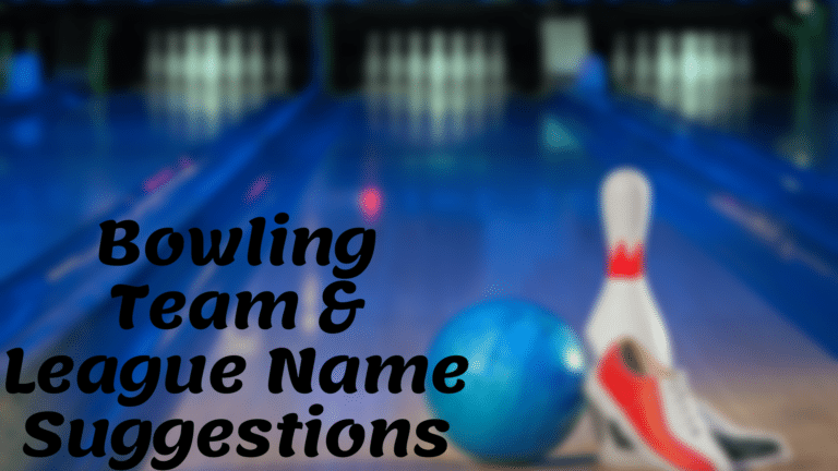 Bowling Team & League Name Suggestions