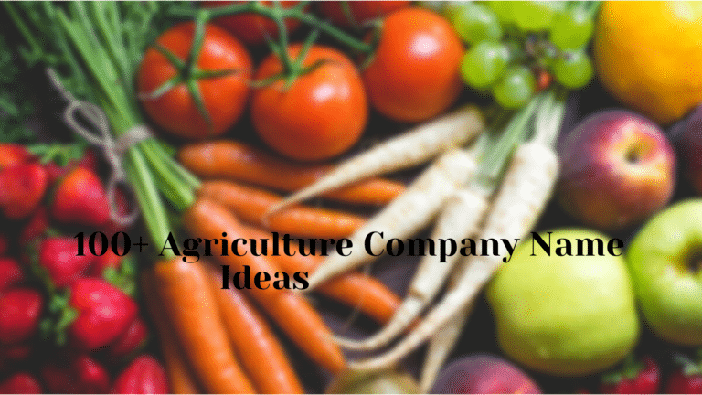 100+ Agriculture Company Name Ideas